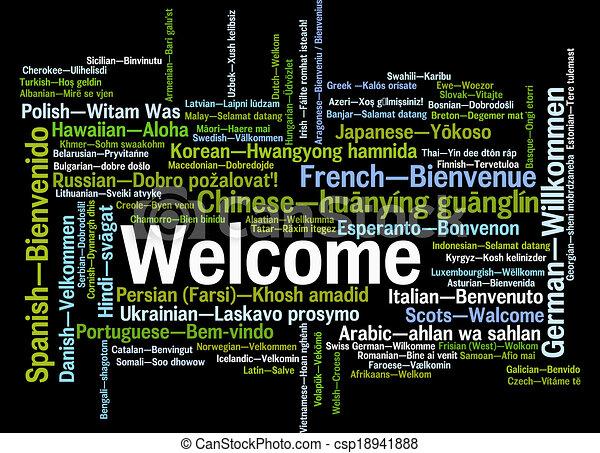 Welcome phrase words cloud concept - csp18941888