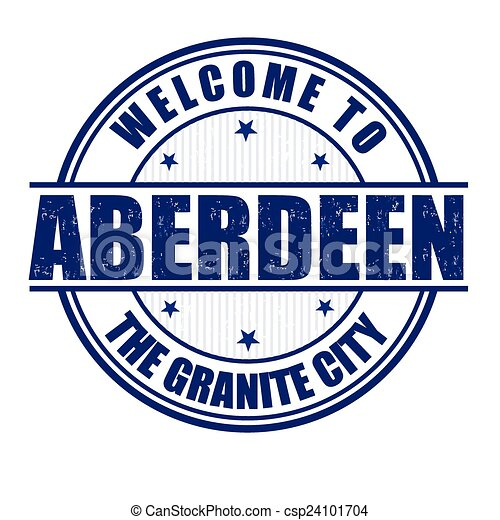 Welcome to Aberdeen stamp - csp24101704