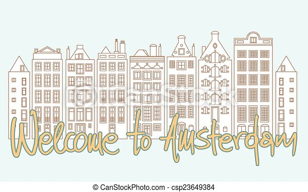 Welcome to Amsterdam - csp23649384