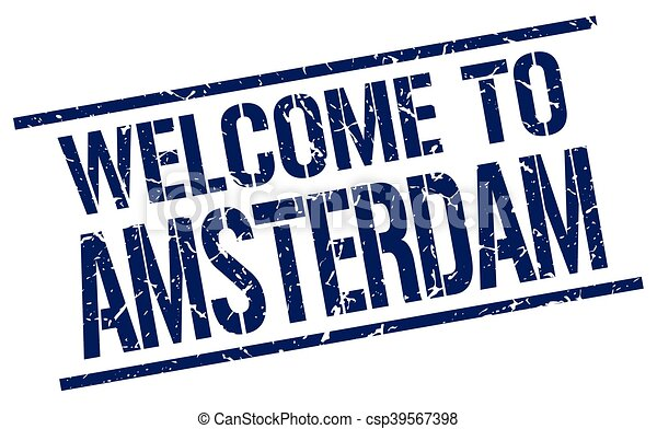 welcome to Amsterdam stamp - csp39567398