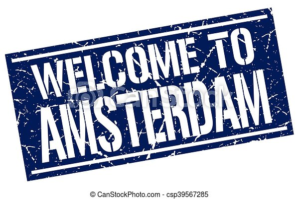 welcome to Amsterdam stamp - csp39567285