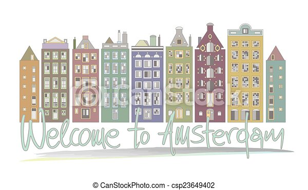 Welcome to Amsterdam - csp23649402