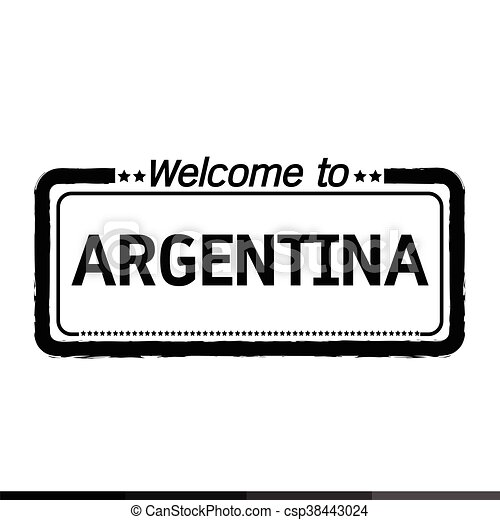 Welcome to ARGENTINA illustration design - csp38443024