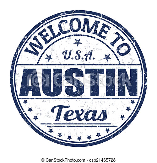 Welcome to Austin stamp - csp21465728