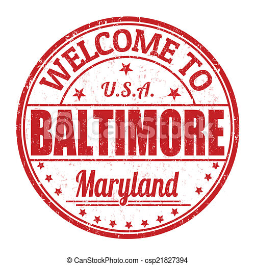Welcome to Baltimore stamp - csp21827394