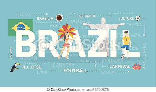 Welcome to Brazil. - csp55400323
