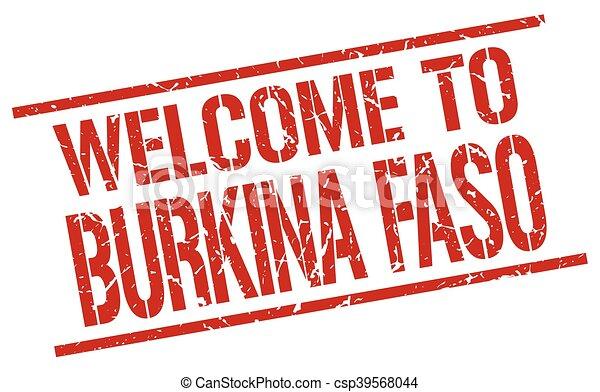 welcome to Burkina Faso stamp - csp39568044