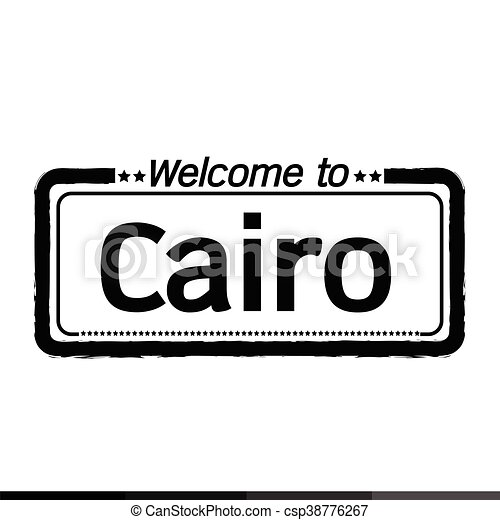 Welcome to Cairo city illustration design - csp38776267