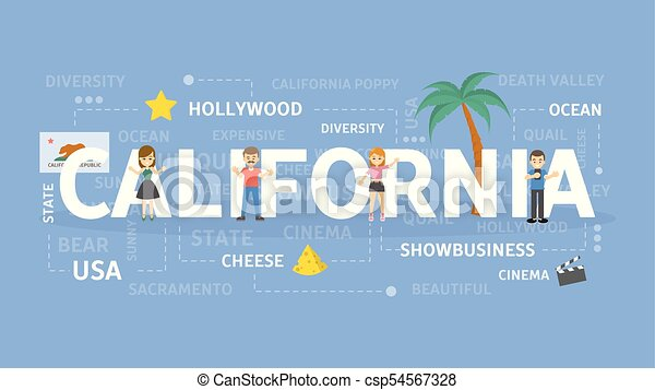 Welcome to California. - csp54567328