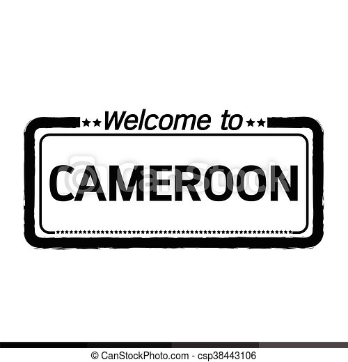 Welcome to CAMEROON illustration design - csp38443106