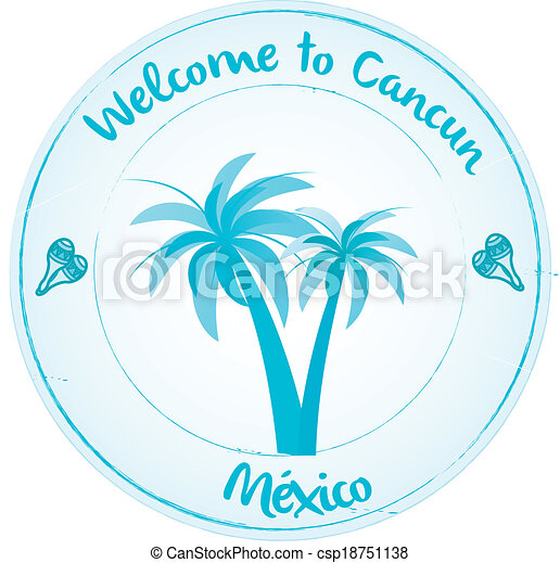 Welcome to Cancun - csp18751138