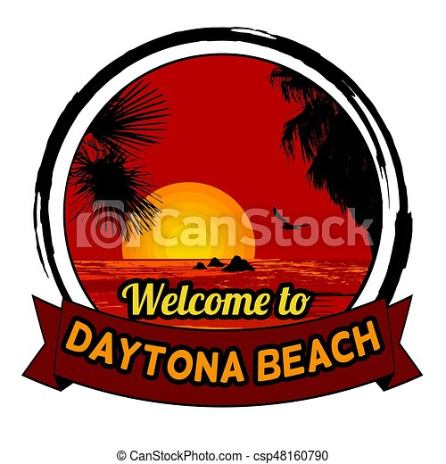 Welcome to Daytona Beach concept for t-shirt and other print production - csp48160790