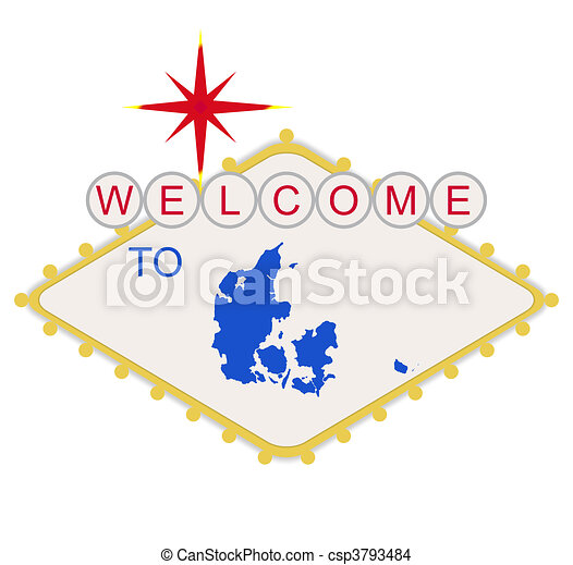 Welcome to Denmark sign - csp3793484