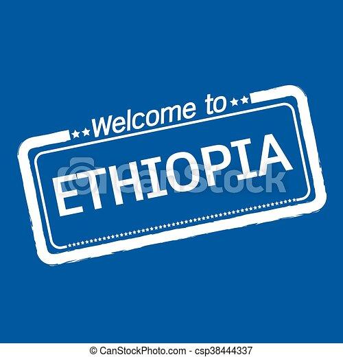 Welcome to ETHIOPIA illustration design - csp38444337