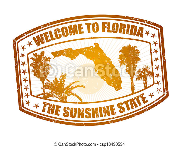 Welcome to Florida stamp - csp18430534