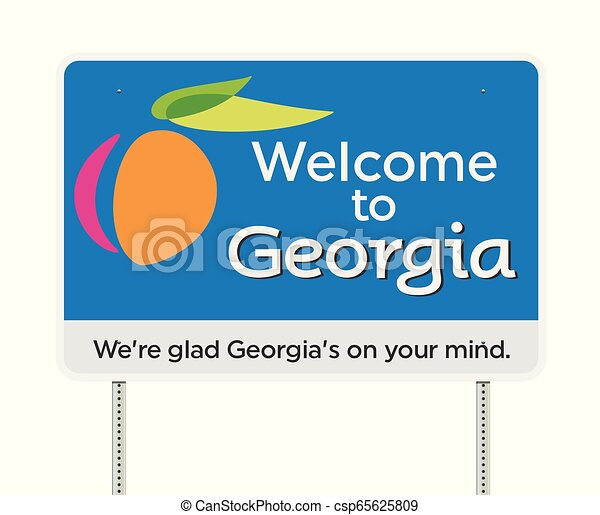 Welcome to Georgia road sign - csp65625809