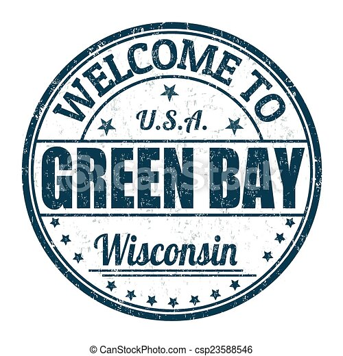 Welcome to Green Bay stamp - csp23588546