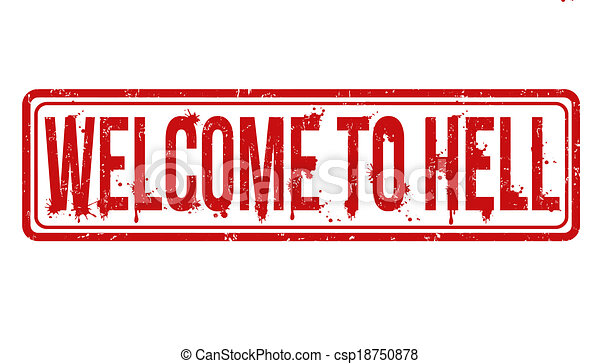 Welcome to hell stamp - csp18750878