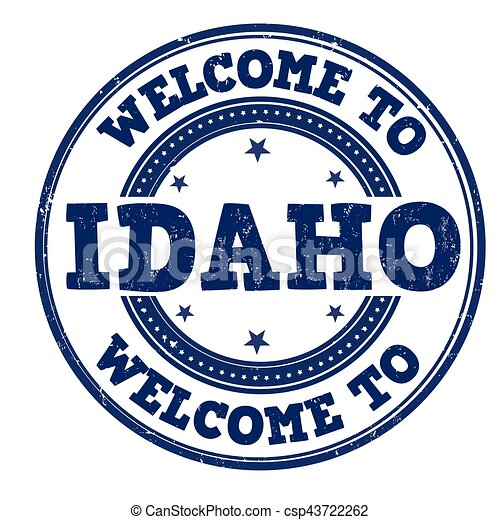 Welcome to Idaho sign or stamp - csp43722262