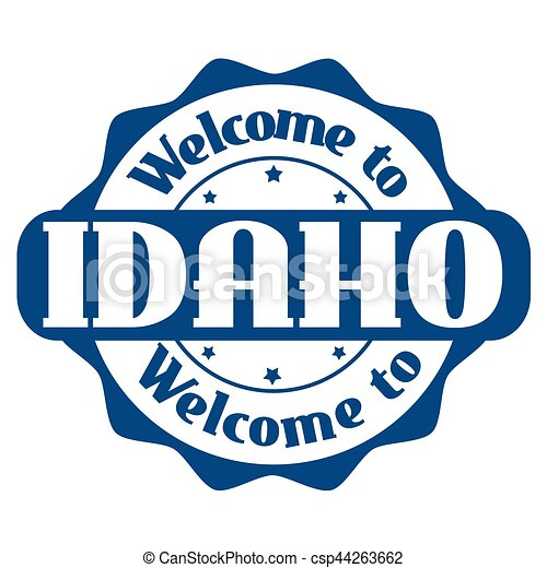Welcome to Idaho sign or stamp - csp44263662