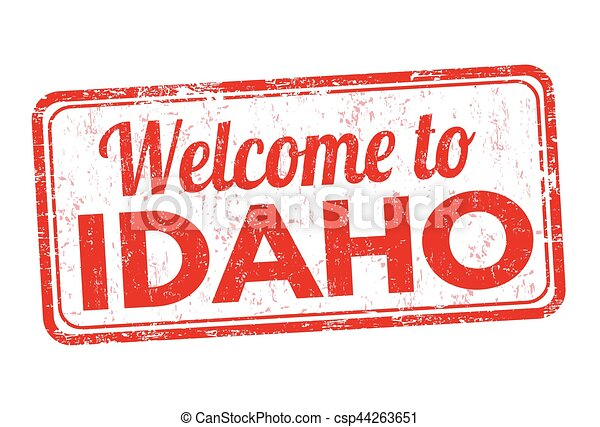 Welcome to Idaho sign or stamp - csp44263651