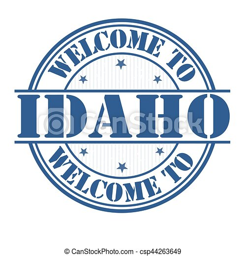 Welcome to Idaho sign or stamp - csp44263649