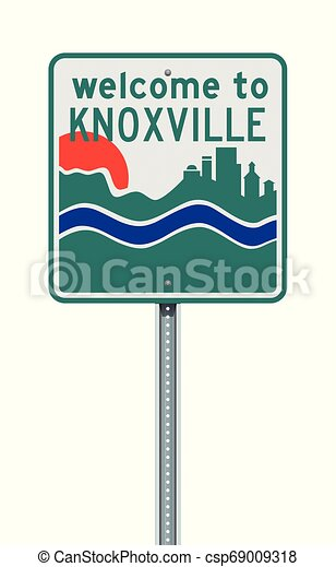 Welcome to Knoxville road sign - csp69009318