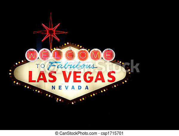 Welcome To Las Vegas Neon Sign - csp1715701