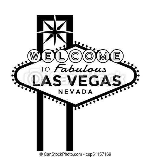 Black And White Las Vegas Sign Vector - #1 Clip Art & Vector Site •