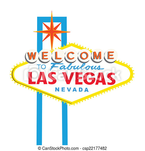 Welcome to Las Vegas Sign copy - csp22177482