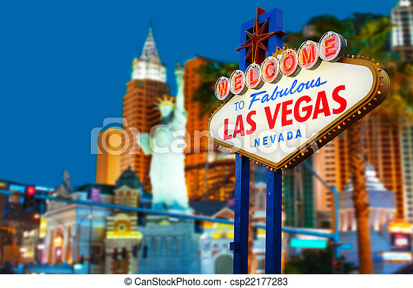 Welcome to Las Vegas Sign - csp22177283