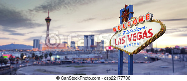Welcome to Las Vegas Sign - csp22177706
