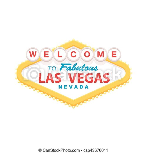 Welcome to Las vegas sign - csp43670011