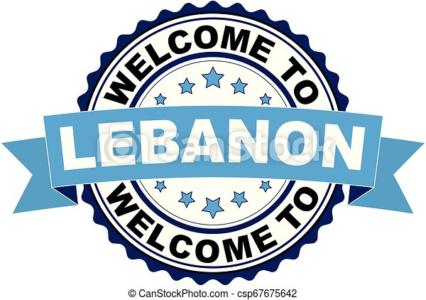 Welcome to Lebanon blue black rubber stamp illustration vector - csp67675642