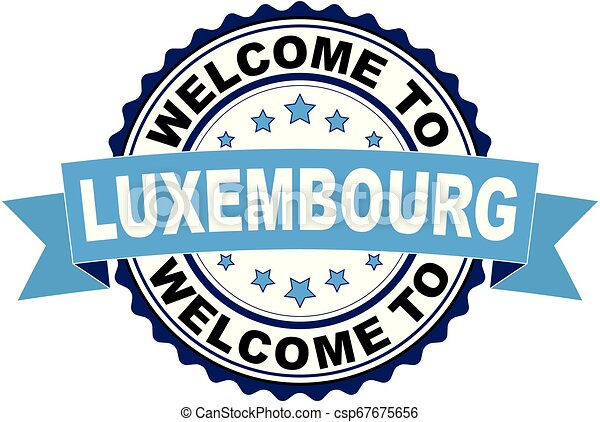 Welcome to Luxembourg blue black rubber stamp illustration vector - csp67675656