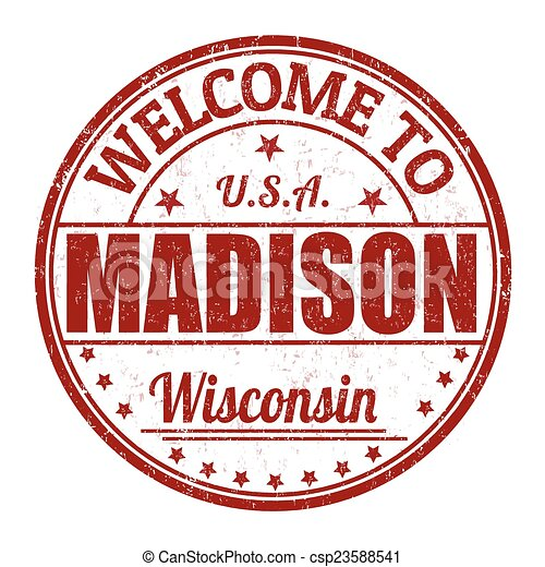 Welcome to Madison stamp - csp23588541