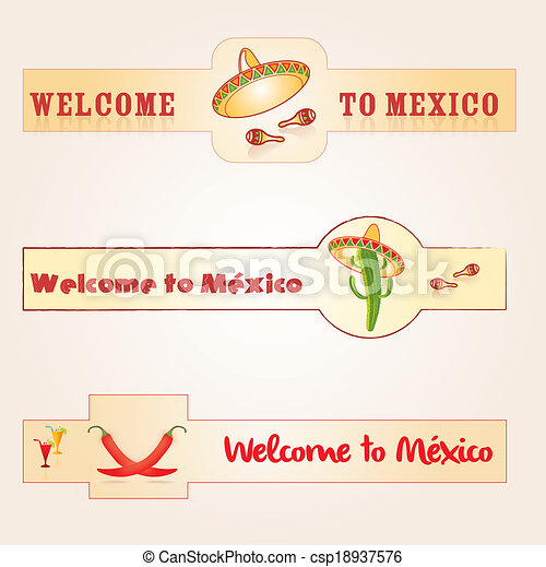 Welcome to Mexico - csp18937576