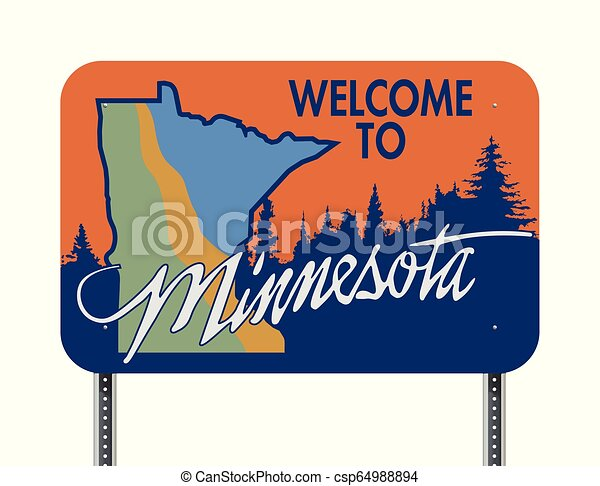 Welcome to Minnesota road sign - csp64988894