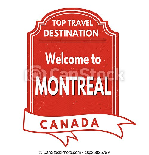 Welcome to Montreal stamp - csp25825799