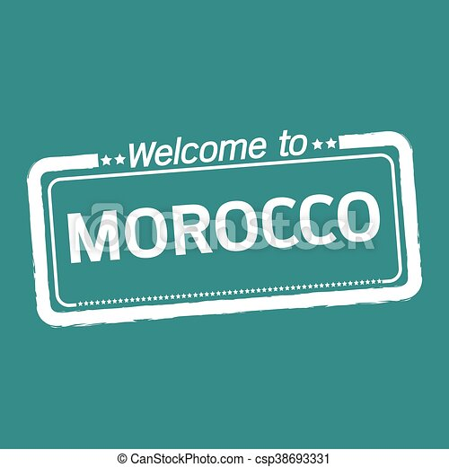 Welcome to MOROCCO illustration design - csp38693331