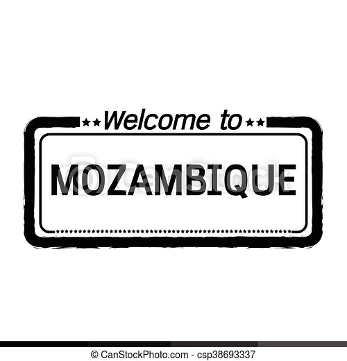 Welcome to MOZAMBIQUE illustration design - csp38693337