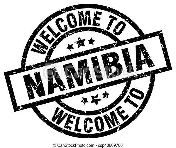 welcome to Namibia black stamp - csp48609700