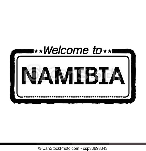 Welcome to NAMIBIA illustration design - csp38693343