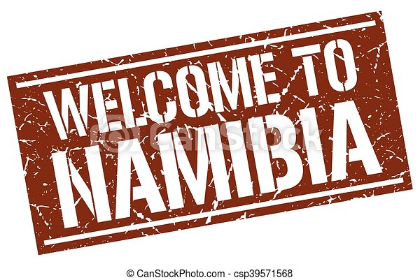 welcome to Namibia stamp - csp39571568