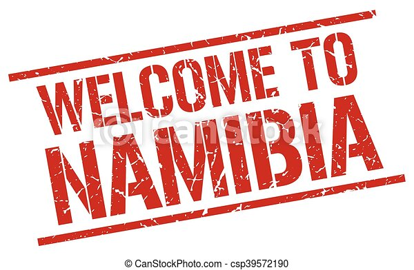 welcome to Namibia stamp - csp39572190
