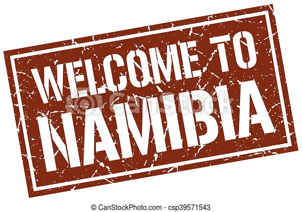 welcome to Namibia stamp - csp39571543