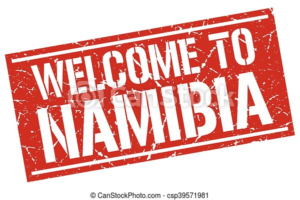 welcome to Namibia stamp - csp39571981