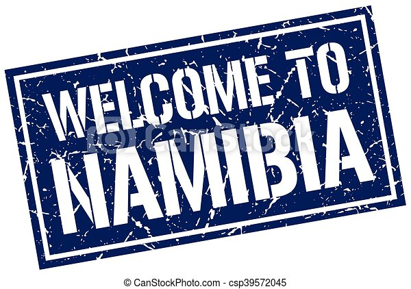 welcome to Namibia stamp - csp39572045