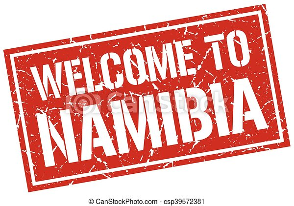 welcome to Namibia stamp - csp39572381