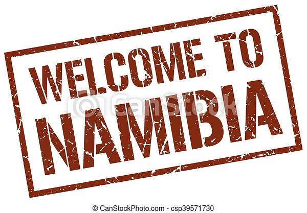 welcome to Namibia stamp - csp39571730